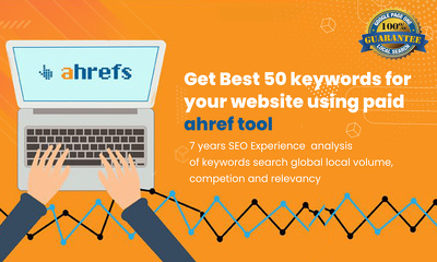 Get best 50 keywords for your website using Paid ahrefs Tool