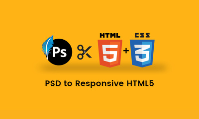 PSD To Responsive HTML5+CSS3 Web Page using Bootstrap 4