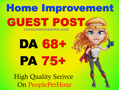 Do 1 guest post on high quality home improvement blog