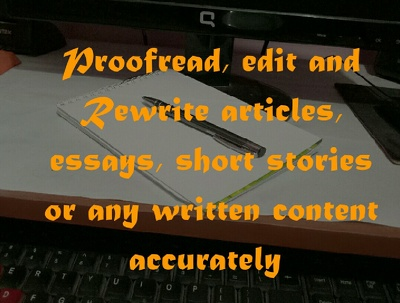 Proofread and edit  upto 1000 words within 24 hours