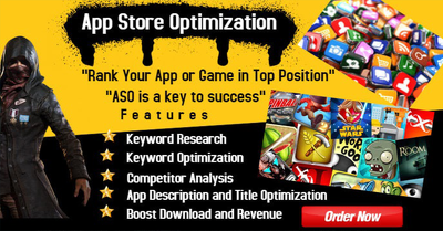 Provide ASO to increase downloads for ios and android apps