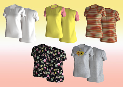 create 3d sample (casual wear) for your design and artwork