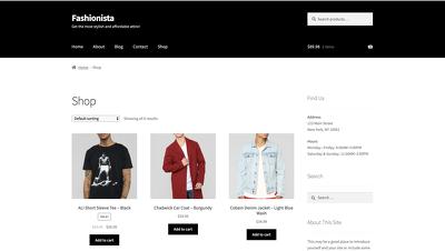 Create an e-commerce website using WooCommerce