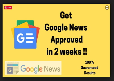 Approve your Business Website in google news in 14 days