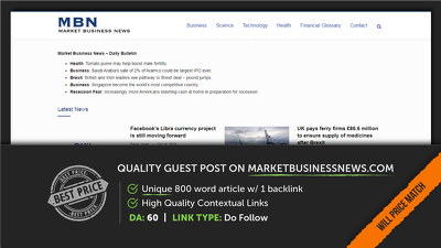 Guest Post on Market Business News (marketbusinessnews.com)