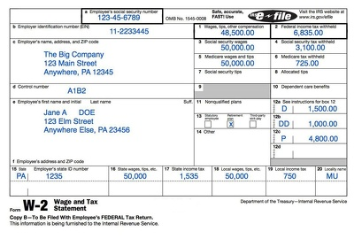 Prepare your W-2 so you can buy a car or a house