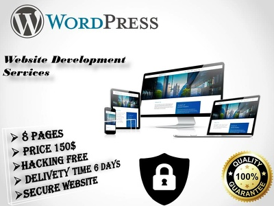 8 Pages impressive website on Wordpress