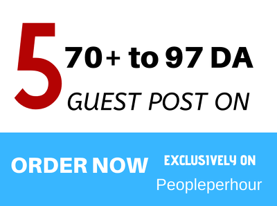 Publish your guest post on high quality 80 to 97da site