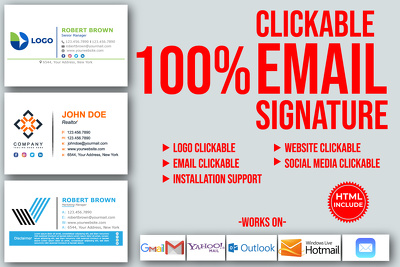 Make Modern HTML Email Signature For Outlook Gmail And Apple