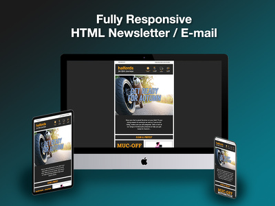 Build a fully responsive HTML email template / Newsletter