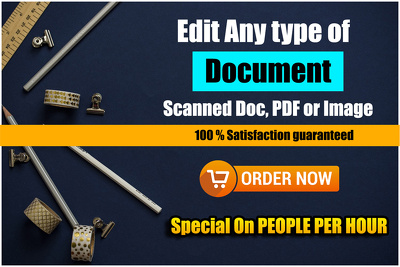 Edit PDF document Or any Other document