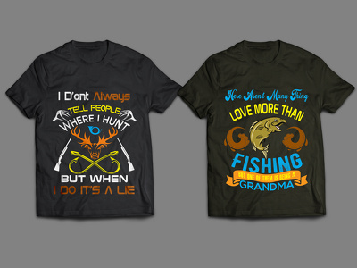 Do amazing and professionally shirt/ shirts Hunting designs 2