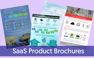 Design brochures for SaaS products