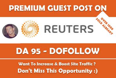 Guest Post on REUTERS , Reuters.com DA 95 PA 100