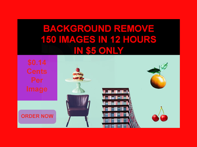 Remove backgrounds of 150 images in 12 hours fast delivery