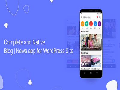make blog and news app for wordpress site with admob and push