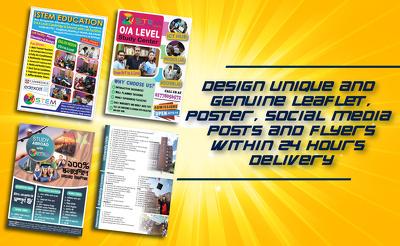 Design your leaflet, flyer or poster
