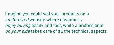 Realize your brand new simple standalone eCommerce website