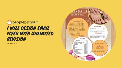 I will design email flyer with unlimited revision