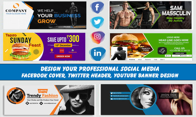 Do a facebook cover design for any business