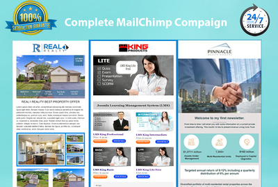 Design your mailchimp template and setup campaign