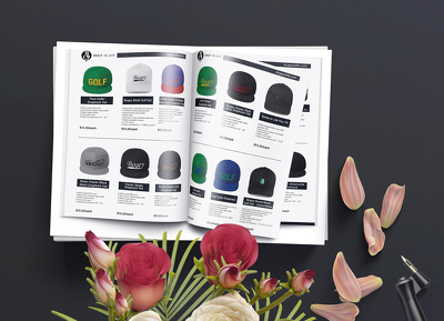design a modern, beautiful product catalog (25 pages)