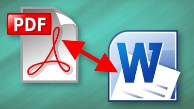 Convert PDF JPG to word or any file