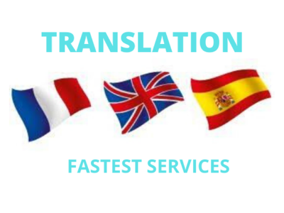 Provide English - French - Spanish  Translation