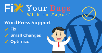 Fix wordpress bugs, errors, problems & provide customization