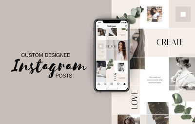 Design 10 images for your Instagram feed