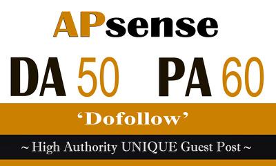 """Write and publish UNIQUE Guest Post on """"Apsense"""" DA-50"""