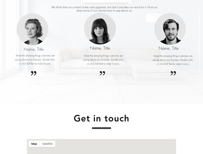 Design 5 sections/pages responsive Wix website