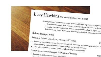 Review your CV and teach you improvement techniques