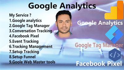 Fix or setup google analytics, tag manager and facebook pixel