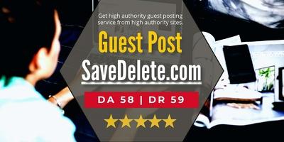 Write and Publish Guest Post On DA58 SaveDelete.com Tech Website