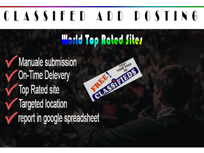 Post your ad on 50 top rated classified sites
