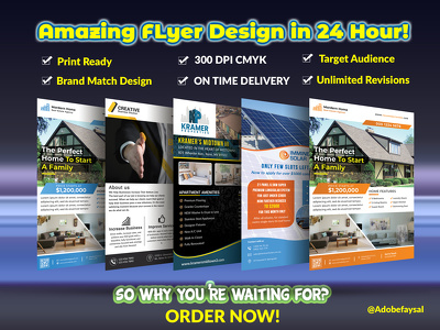 Do business flyer design match to your brand identity