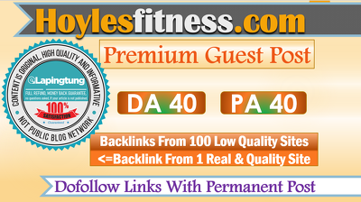 Write & Publish A Guest Post on Health Site Hoylesfitness.com