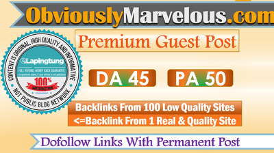 Publish a guest post on obviously-marvelous.com - DoFollow Link