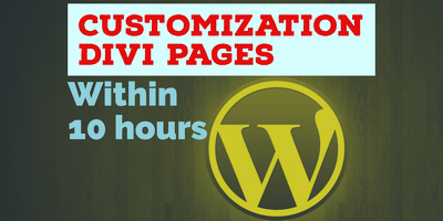 Customization your DIVI Pages Within 10 hours