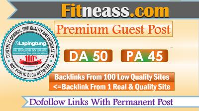 Publish A Guest Post on Health Site Fitneass.com - DA 50