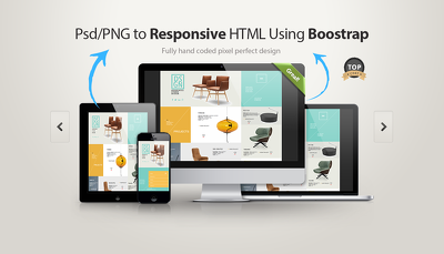PSD/XD/SKETCH to HTML5 using Bootstrap/Tailwind/No-framework