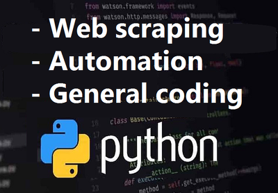 Do python web scraping, automation or coding