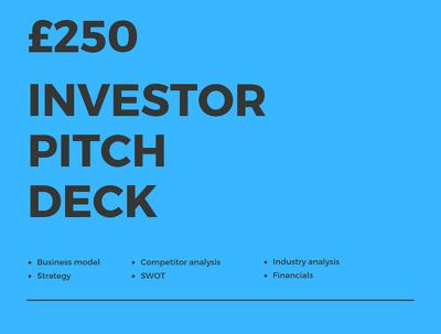 Prepare an investor pitch deck
