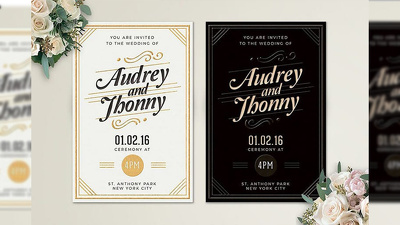 Design beautiful wedding invitation card and postcard