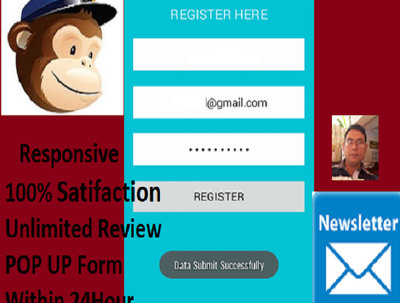 Set up mailchimp campaign,targeted email collection