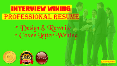 Write interview wining professional resume within 6 hours