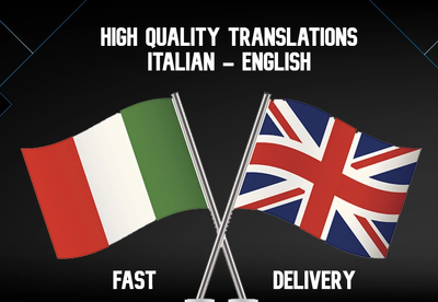Translate up to 1500 words from Italian to English or vice versa