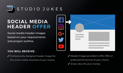 Design you a professional social media header