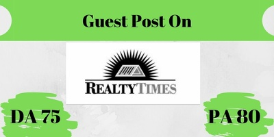 Do a dofollow guest post on real estate blog